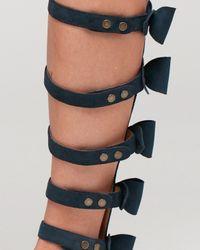 Plomo | Blue Nicoletta Bow Tall Sandal | Lyst