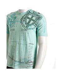 Prada | Light Blue Calender Printed Cotton Crewneck T-shirt for Men | Lyst