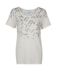 3.1 Phillip Lim | Natural T-shirt with Fading Rhinestones | Lyst