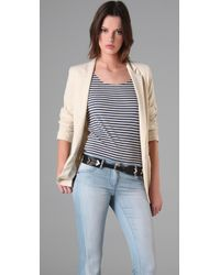 Kova & T | Natural Cream Blazer | Lyst