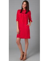 JOSEPH   Red Ninon Shirtdress   Lyst