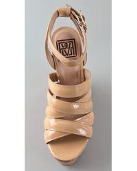 Pour La Victoire - Natural Jessie Cork Wedge Sandals - Lyst