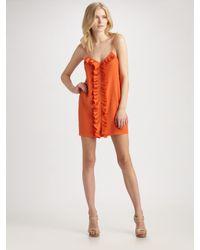 Tibi | Orange Silk Cami Dress | Lyst