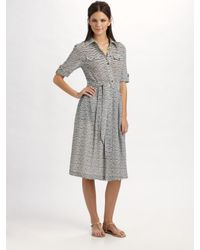 Tory Burch | Gray Clemence Cotton Gauze Dress | Lyst