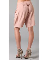 By Malene Birger - Natural Short with Bow - Lyst