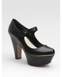 Prada | Black Platform Mary Jane Pumps | Lyst