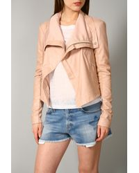 VEDA | Pink Classic Leather Jacket | Lyst