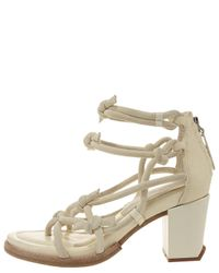 Alexander Wang - Yellow Tilda Knotted Low-heel Sandal - Lyst