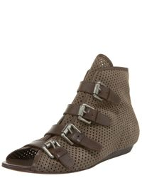 Ash | Green Perforated Flat Bootie | Lyst