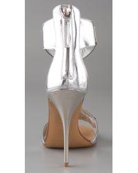 Giuseppe Zanotti - Metallic Mirror Cuff Sandals - Lyst