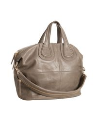 Givenchy | Gray Grey Lambskin Nightingale Medium Top Handle Bag | Lyst