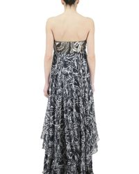 Jay Ahr - Black Strapless Sequined Bust Chiffon Dress - Lyst