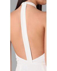 3.1 Phillip Lim - White Shirt Collar Halter Gown - Lyst