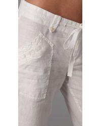 Joie - White Rome Linen Cargo Pants - Lyst