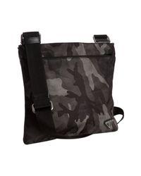 Prada | Gray Smoke Camouflage Nylon Messenger Bag for Men | Lyst