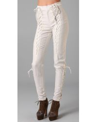 Opening Ceremony | White Lace Up Pants | Lyst
