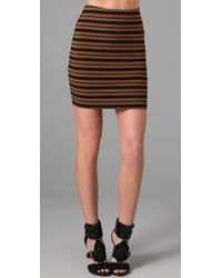 Torn By Ronny Kobo | Brown Astrid Striped Miniskirt | Lyst