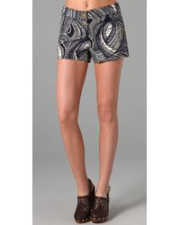 Tory Burch | Blue Kevin Paisley-Print Stretch Cotton-Canvas Shorts | Lyst