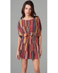 Tucker | Multicolor Panel Dress Mini | Lyst