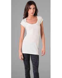 Velvet By Graham & Spencer - White Lynn T Shirt Mini Dress - Lyst