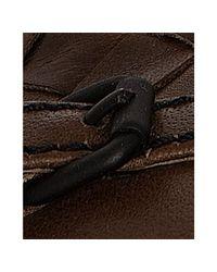 Bottega Veneta | Brown Chene Woven Leather Buckle Detail Flats | Lyst