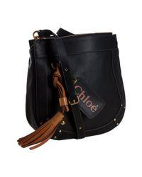 Chloé - Black Faux Leather Eden Small Crossbody Bag - Lyst