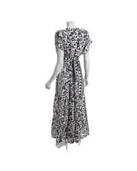 Daughters of the Revolution | Black Vine Print Silk Butterfly Maxi Dress | Lyst