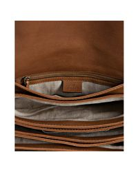 Gucci | Natural Camel Brown Leather Marrakech Messenger Bag | Lyst
