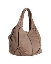 Tod's | Natural Beige Brushed Leather Baloon Media Shoulder Bag | Lyst
