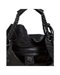 Vince Camuto - Black Pebbled Leather Chain Hobo Bag - Lyst