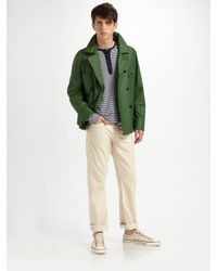 Elizabeth and James | Green Dylan Pea Coat for Men | Lyst