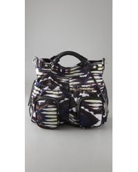 L.A.M.B. | Black Freestyle Ikat Brandywell Large Cross Body Bag | Lyst