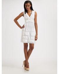 Nanette Lepore | White Sleeveless Bow Lovers Leap Dress | Lyst