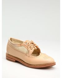 Rag & Bone | Natural Bradford Brogue Lace-up Oxfords | Lyst