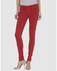 Citizens of Humanity | Red Thompson Twill Pants in Picante | Lyst