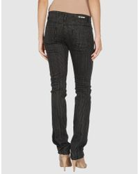 Love Moschino - Blue Denim Trousers - Lyst