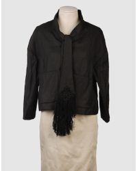 Manoush | Black Fur Leather Jacket | Lyst