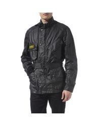 Barbour Black Duralinen International Flyer Jacket for men