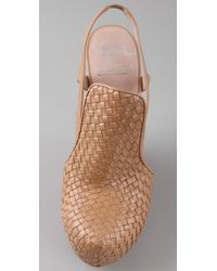 Chris Benz | Natural Alejandro Ingelmo For Woven Wedge Pumps | Lyst