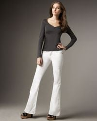 Current/Elliott | White The Low Bell Sugar Jeans | Lyst