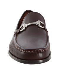 Ferragamo | Brown Hickory Calfskin Magnifico Gancio Loafers for Men | Lyst