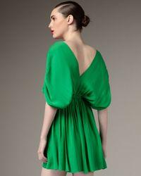 Halston - Green Dolman-sleeve Dress - Lyst