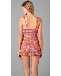 Hanky Panky | Orange Splatter Print Baby Doll Chemise with G-string | Lyst