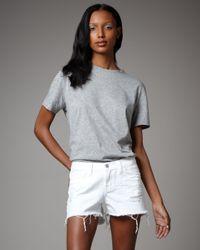 J Brand | White Shorts Cut Off  | Lyst