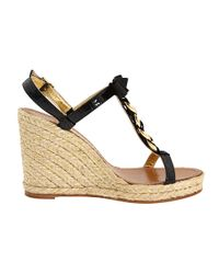 Kate Spade | Brook - Black Chain Detail Espadrille | Lyst
