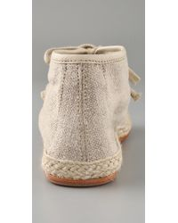 NDC - Natural Lino Flat Espadrille Booties - Lyst
