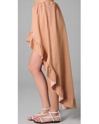 Pray For Mother Nature - Pink Encinitas Ruffled Skirt - Lyst