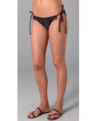 Shoshanna | Black Cherries Print String Bikini Bottom | Lyst