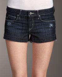 Sold Denim - Blue Bleeker Baby Shorts, Dark Wash - Lyst
