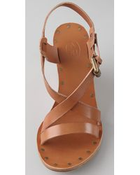 Ash - Natural Tatiana Wedge Sandals - Lyst